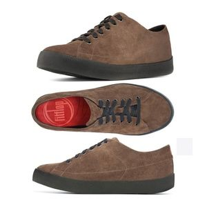 FitFlop Ike Brown Suede Sneakers. 13